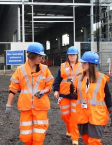 Lynne Featherstone MP on the Hornsey Rail Depot site tour