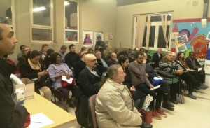 the audience at Lynne Featherstone MP's public meeting on the Noel Park estate