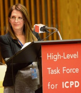 Lynne Featherstone MP, Parliamentary Under Secretary of State for International Development, speaking at the United Nations Commission on the Status of Women