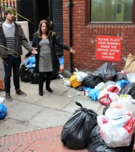Liberal Democrat MP Lynne Featherstone and local Wood Green campaigner Roberto Robles discuss the issues with residents – and see some of the problems for themselves.
