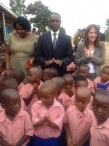 Lynne Featherstone MP opening a DFID funded pre-school in Rwanda