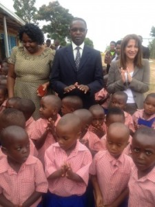 Lynne Featherstone MP opening a DFID funded pre-school in Rwanda