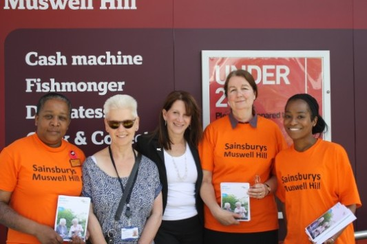 Lynne Featherstone MP with Sainsburys staff