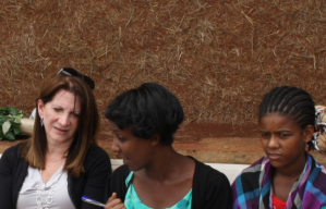 Lynne Featherstone MP speaking to young women in Ethiopia