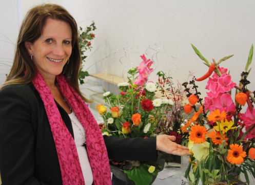 Lynne Featherstone MP with some prize winning flowers