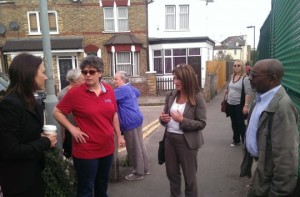 Lynne Featherstone MP discusses problems caused by Network Rail's failure to maintain the land with Network Rail representatives and local residents.