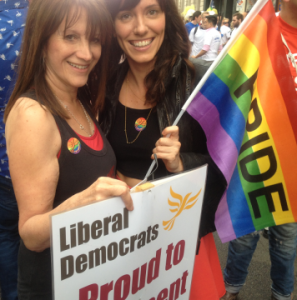 Lynne Featherstone MP on this year's pride march – celebrating equal marriage
