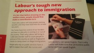 Labour's disgraceful anti immigration leaflet - delivered in Hornsey and Wood Green