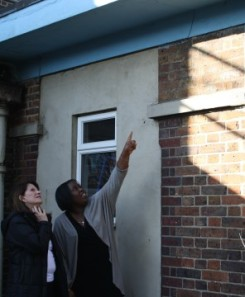 Lynne Featherstone MP and Headteacher Oweda Harrision at Earlham Primary School