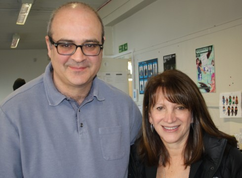 Lynne Featherstone MP with Andreas Koumi - the Exposure Project Manager