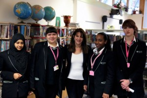 Lynne Featherstone MP with Hornsey School for Girls students
