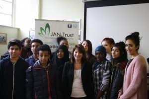 Lynne Featherstone with Jan Trust community champions